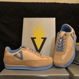 New! VOLATILE Tan/Baby Blue Platform Sneakers sz 7